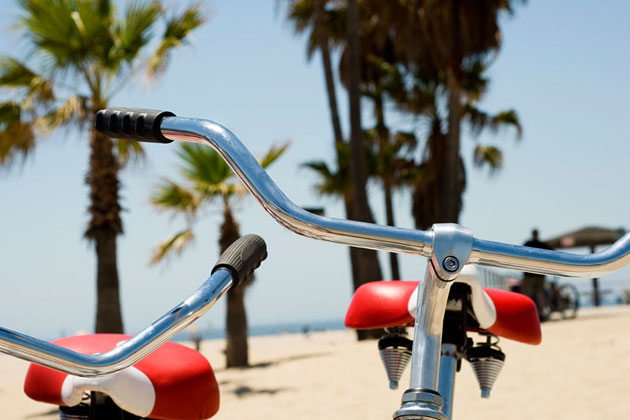 Biking LA Beach