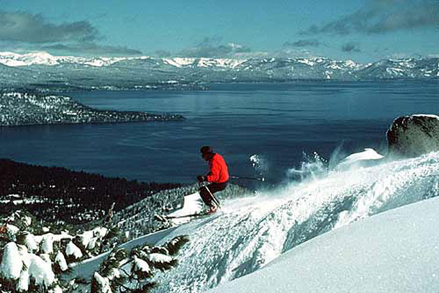 Skiing by Tahoe